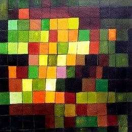"PAUL KLEE - ANCIENT SOUND  48X48 "" OIL PAINTING REPRODUCTION – image 2"