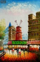 Modern Art - Paris - The Moulin Rouge  60x90 cm Oil Painting 001