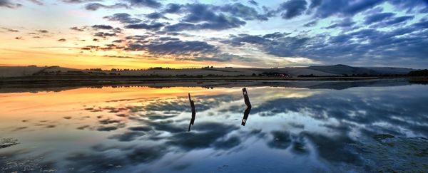 River Reflections, Cuckmere Haven - Fineart Photography by David Freeman