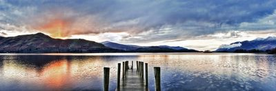 Rain and the Sunset, Derwent Water - Fineart Photography by David Freeman