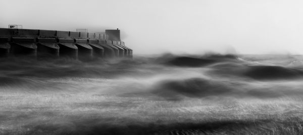 Storm Waves Batter Marina - Fineart Photography by David Freeman