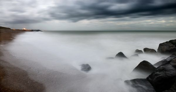 Shoreham Beach & Storm - Fineart Photography by David Freeman