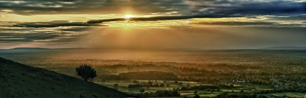 South Downs Sunset - Fineart Photography by David Freeman