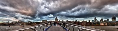 St pauls and Milenium Bridge - Fineart Photography by David Freeman