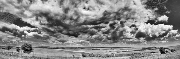 Summer, Downs Brighton B&W - Fineart Photography by David Freeman