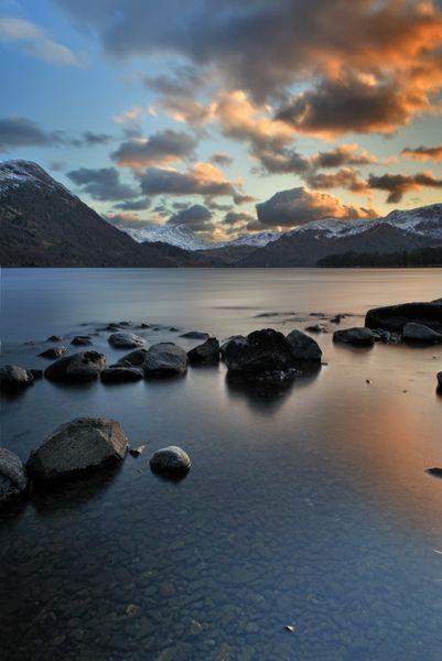 Mountain Sunset, Ullswater - Fineart Photography by David Freeman