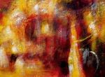 Abstract - Fire Storm 80x110 cm Original Oil Painting 001
