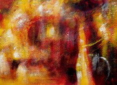 "ABSTRACT - FIRE STORM 32X44 "" ORIGINAL OIL PAINTING – image 1"