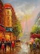 "MODERN ART - PARIS CITY SCENE IN SUMMER 12X16 "" ORIGINAL OIL PAINTING"