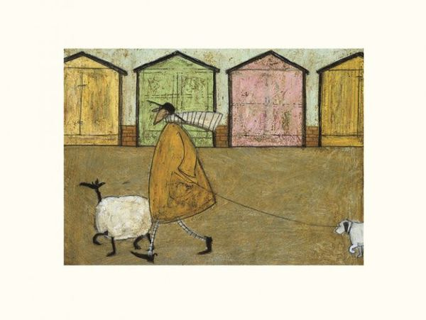 SAM TOFT Along the Prom-  Mounted Print 30x40cm
