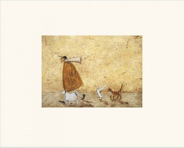 Sam Toft  -  Ernest, Doris, Horace And Stripes - 24X30CM - Mounted Print