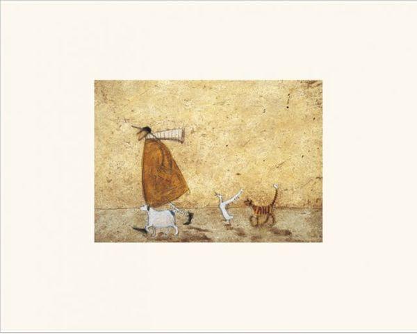 Sam Toft  -  Ernest, Doris, Horace And Stripes - 24X30CM - Kunstdruck mit Passepartout