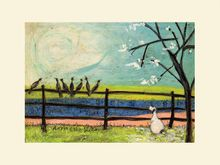 Sam Toft  -  Doris And The Birdies - 30X40CM - Mounted Print 001