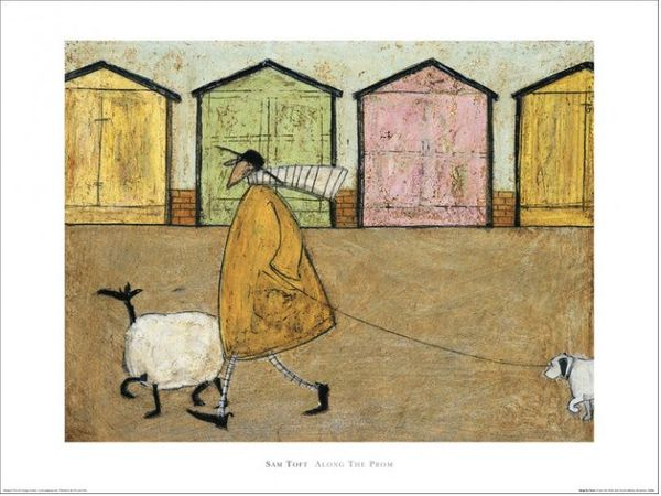 SAM TOFT -  Along The Prom-  Artprint 60x80cm