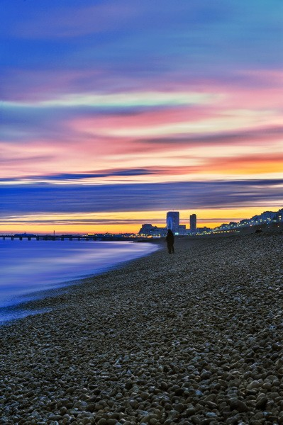 Brighton City Sunset - Fineart Photography by David Freeman