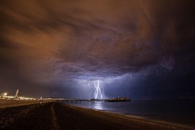 Lightning III  by Max Langran (Lightning over Palace Pier Brighton) 2014