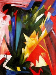 "FRANZ MARC - BIRDS 36x48 "" EXPRESSIONISM OIL PAINTING – image 2"