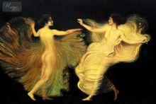 Franz Von Stuck - The Dancers 60x90 cm Reproduction Oil Painting Museum Quality 001