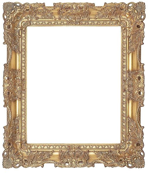 "3.75 "" ORNATE Carved Gold (SWEPT) FRAME ""FLORENTINA"" – image 1"