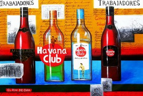 Cuba Havana Club Party  120x180 cm Oil Painting