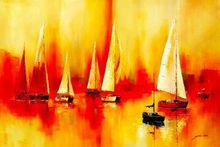Sailing Boats On Lake Garda  120x180 cm Oil Painting 001