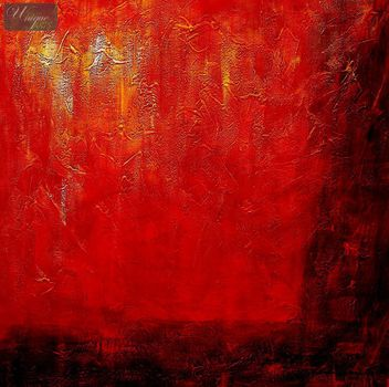 Abstract - Legacy Of Fire  120x120 cm Oil Painting – image 2