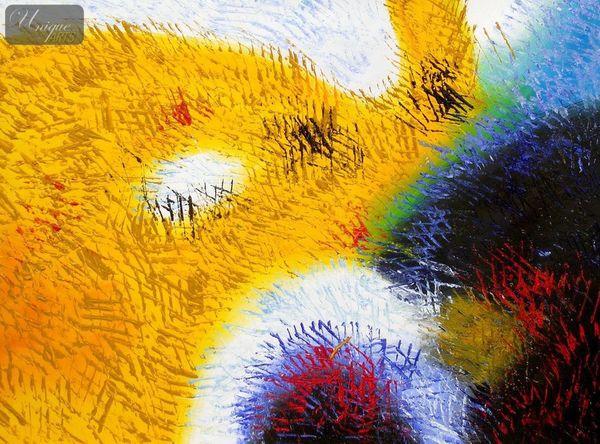 Abstrakt - Berlin Potsdamer Platz 80x110 cm abstraktes Ölbild