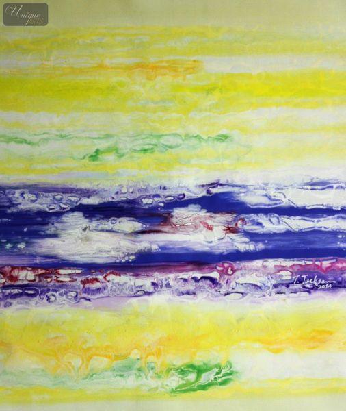 Abstrakt - Rendezvous auf Jupiter 50x60 cm abstraktes Ölgemälde
