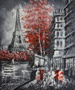 "MODERN ART - EIFFEL TOWER IN PARIS  20X24 "" OIL PAINTING"
