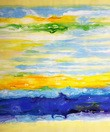 Abstract - Interstellar Clouds  50x60 cm Oil Painting 001