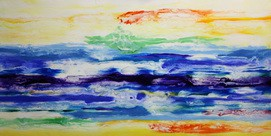 Abstract - Interstellar Clouds  60x120 cm Oil Painting