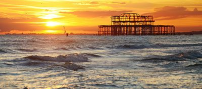 Brighton West Pier Windsurfer - Fine Art Photography by David Freeman