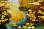 Claude Monet - Water Lilies In Summer 60x90 cm Reproduction Oil Painting – image 2