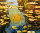 "CLAUDE MONET - WATER LILIES IN THE LIGHT 20X24 "" OIL PAINTING – image 2"