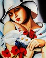 "HOMAGE TO T. LEMPICKA - MIDSUMMER 16X20 "" OIL PAINTING – image 2"