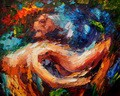 "MODERN ART - THE STORM 16X20 "" OIL PAINTING – image 2"