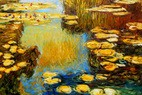 "CLAUDE MONET - WATER LILIES IN SUMMER 24X36 "" OIL PAINTING – image 2"