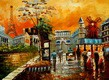 "MODERN ART - PARISIAN COLLAGE 12X16 "" OIL PAINTING – image 2"