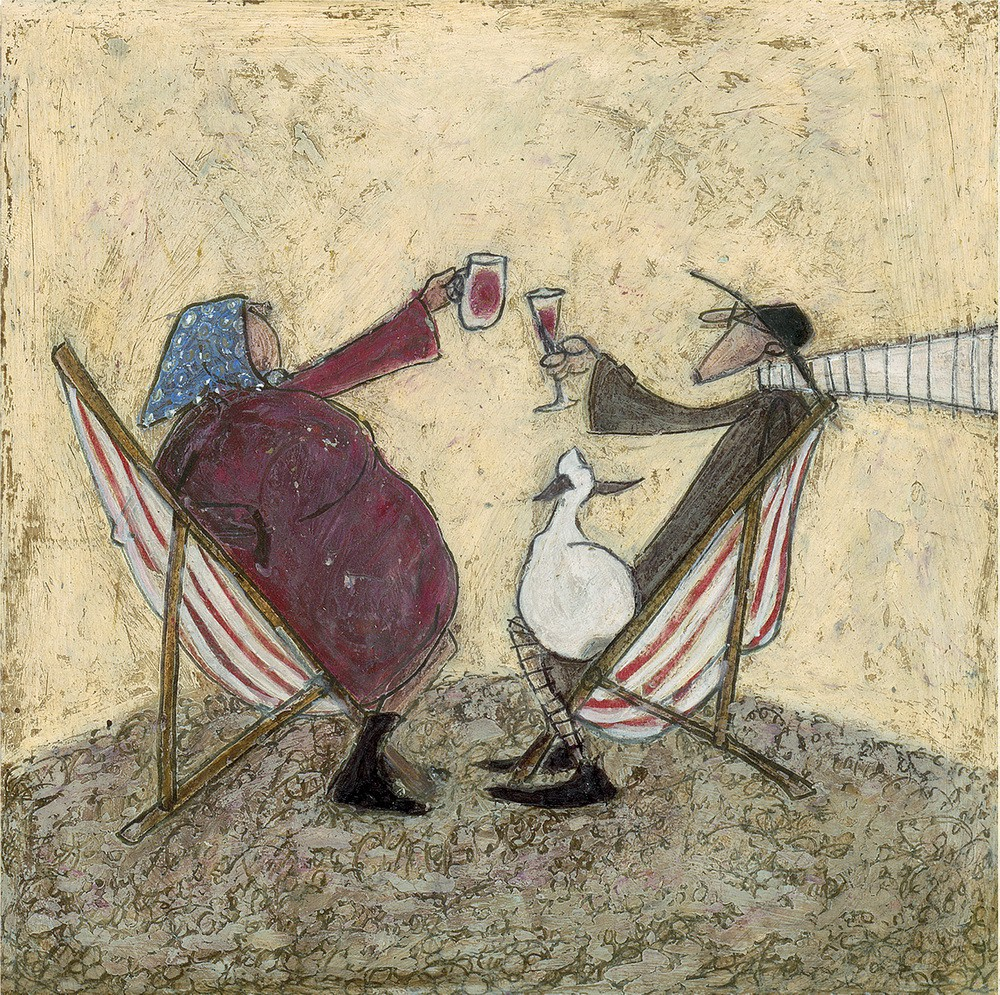 absent friends limited edition print by sam toft
