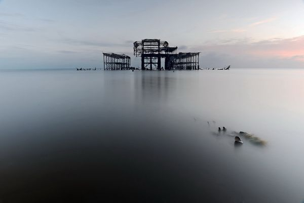"""All that remains "" Brighton West Pier"
