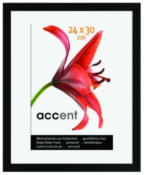 Nielsen Accent Wood Matt Black 40X50 cm Picture Frame