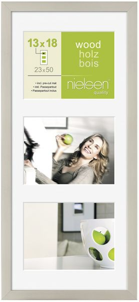 NIELSEN Apollo 5x7inch Silver Picture Frame – image 1