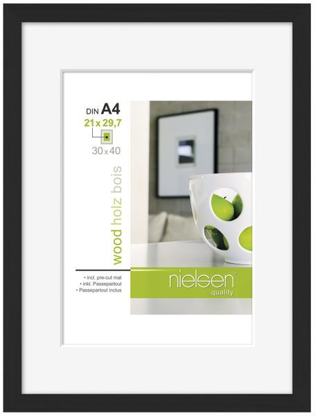 NIELSEN Apollo A4 Black Picture Frame – image 1