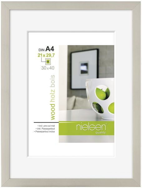 NIELSEN Apollo A4 Silver Picture Frame – image 1