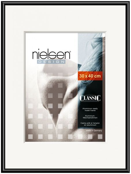 NIELSEN Classic 50x100 cm Polished Black Picture Frame