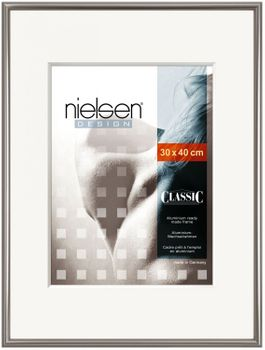 NIELSEN CLASSIC CONTRAST Grey 30X30 cm Picture Frame
