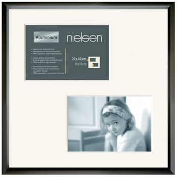 NIELSEN Gallery Junior 30x30 cm 2 Aperture Black Picture Frame