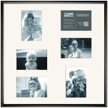 NIELSEN Gallery Junior 50x50 cm 6 Aperture Black Picture Frame