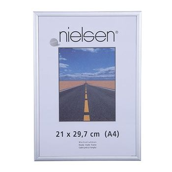 NIELSEN Pearl 21x29 cm A4 Frosted Silver Picture Frame – image 1