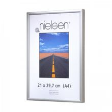 NIELSEN Pearl Perspex 70x100 cm Matt Silver Picture Frame 001